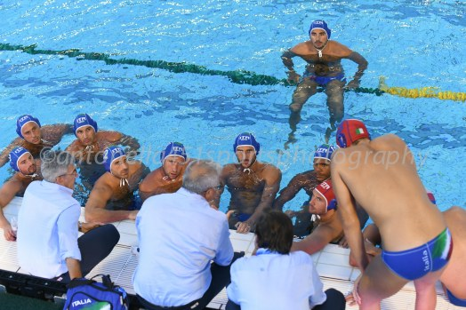 Settebello Team - Photo ©Antonella Mannara Valentino Gallo - Settebello- European Waterpolo Championships Barcelona 2018